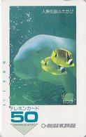 Télécarte Japon / 290-1562 - ANIMAL - DUGONG LAMANTIN & Poisson - MANATEE & Fish Japan Phonecard - 10 - Dauphins