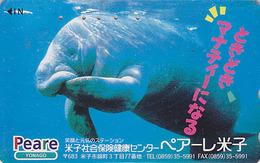 Télécarte Japon / 110-011 - ANIMAL - DUGONG LAMANTIN -  Mammifère Marin - MANATEE Japan Phonecard - 15 - Dauphins