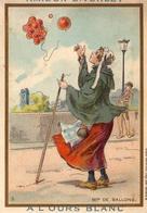 Chromo Métiers D'antan éditées Par Les Amidons E. Verley  Marque à L'ours Blanc  Marchande De Ballons - Andere