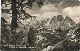 W4115 Rifugio Ristorante Stazione Funivia Faloria (Belluno) - Panorama / Viaggiata 1951 - Italia