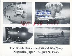 AUTOGRAPHED  PHOTO   NAGASAKI  ATOMIC  BOMB  CO-PILOT - Autographes