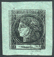 ARGENTINA: GJ.5a, Bluish Green, With Very Notable DOUBLE IMPRESSION Variety, Mint Full Original Gum (with Tiny Hinge Mar - Corrientes (1856-1880)