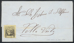 ARGENTINA: GJ.6, Yellow, Franking A Folded Cover Sent From CAA CATÍ To Bella Vista On 3/JUL/1871, VF Quality! - Corrientes (1856-1880)