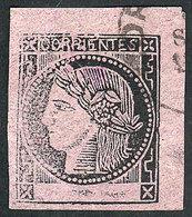 ARGENTINA: GJ.8, Dull Rose, Type 6, With Datestamp Of Corrientes, VF Quality! - Corrientes (1856-1880)
