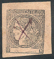 ARGENTINA: GJ.13, Dull Rose, With Violet Pen Cancel, VF Quality! - Corrientes (1856-1880)