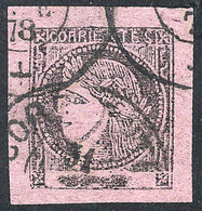 ARGENTINA: GJ.15, Dark Lilac, Beautiful Example With Triple Cancellation Of Corrientes, Excellent! - Corrientes (1856-1880)