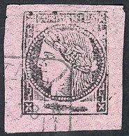 ARGENTINA: GJ.15, Dark Lilac, With Rectangular Datestamp Of GOYA (+100%), Excellent! - Corrientes (1856-1880)