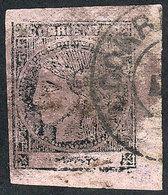ARGENTINA: GJ.16, Dull Rose, Interesting Translucent Oily Impression, With Double Circle Datestamp Of Corrientes, VF Qua - Corrientes (1856-1880)