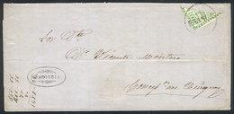ARGENTINA: GJ.2BID, 10c. Diagonal Bisect, Franking An Entire Letter Sent From CONCORDIA To Concepción Del Uruguay On 22/ - 1858-1861 Confédération
