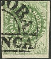 ARGENTINA: GJ.8A, 10c. OLIVE Green, Used In Córdoba, VF, Rare Color! - Argentina