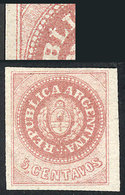 """ARGENTINA: GJ.10b, 5c. Without Accent, With Variety: DOT Above The L"""" (position 56), Excellent!"""" - Argentine"""