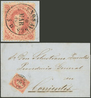 ARGENTINA: GJ.20, 3rd Printing, Absolutely Superb Example Franking A Folded Cover Sent From Buenos Aires To Corrientes O - Argentine