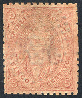 ARGENTINA: GJ.20d, 3rd Printing, VERY DIRTY PLATE Horizontally, Light Dotted Cancel, Superb, Rare! - Argentine