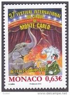 Monaco Art N° 2858 ** Spectacle - 37 ème Festival Du Cirque En 2013 - Chevaux, éléphant - Cirque