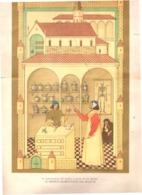 Cartel De Carton. La Indumentaria Del Medico  Salernitano Del Siglo XI.  35-35 Cmos. Condicion Media. Desgarrar - Books, Magazines, Comics
