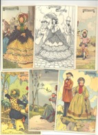 Illustrateur George P. De Laet - Série Complète De 12 CP Avec Manchette - 1919 - Superbe état (b257) - Illustratori & Fotografie