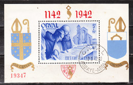 BL18  Orval - Oblit. - Légères Rousseurs - LOOK!!!! - Blocks & Sheetlets 1924-1960