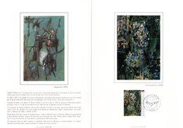 """"""" OEUVRE DE CAMILLE BRYEN """" Sur Encart 1° Jour N°té Sur SOIE De 4 Pages De 1987 N°YT 2493 Parf état - Otros"""