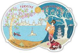 TURKEY/2019 - 2019 YEAR OF TURKISH CULTURE IN JAPAN (Odd Shape, Silky), MNH - Nuevos