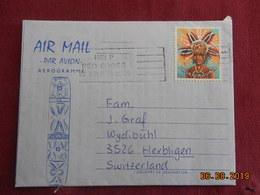 Aerogramme De 1982 à Destination De Herbligen Suisse - Papouasie-Nouvelle-Guinée
