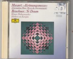 Cd   MOZART Kronungsmesse BRUCKNER  Te Deum   Wiener Philharmoniker KARAJAN    Etat: TTB Port 110 GR - Klassik