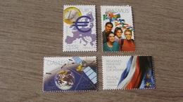 Grands Projets Européens - 4 Timbres N° 4245 / 4246 / 4247 Et 4248 - Année 2008 - Neufs** - France