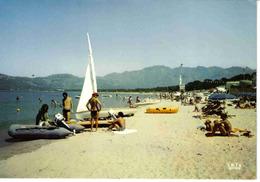 2B Calvi La Plage En 1979 Voilier Pédalo Baigneuses Seins Nus - Calvi