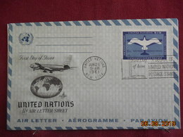 Aerogramme De 1961 De ONU - New-York - Siège De L'ONU