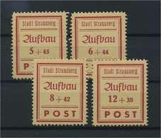 STRAUSSBERG 1945 Nr 34-37A Postfrisch (117150) - Deutschland