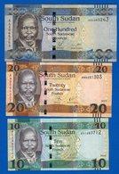 Soudan  Du  Sud  3  Billets - Südsudan