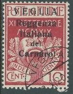 1920 VEGLIA USATO 10 CENT CARATTERI PICCOLI - RA12-4 - Arbe & Veglia