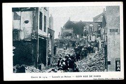 Leuven Louvain En Ruines Coin Rue De Paris Guerre De 1914 Dooms - Leuven