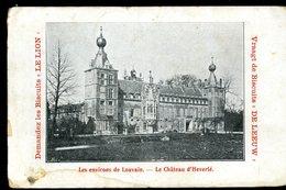 Leuven Château D'Heverlé Les Environs De Louvain Biscuits Le Lion De Leeuw 1908 Carte Tachée - Leuven