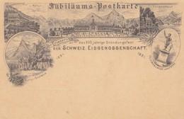 Schweiz: 1891: Jubiläums Postkarte, Ganzsache, Gründungsfest, Rütli, Altdorf - Suiza