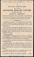 Reningelst, Wijtschate, 1939, Mathilde Capoen, Dequidt - Images Religieuses