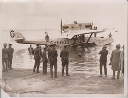 DORNIER NAPIER WHALE  BRITISH ATLANTIC FLIGHT POSPONED   20*16CM Fonds Victor FORBIN 1864-1947 - Aviación