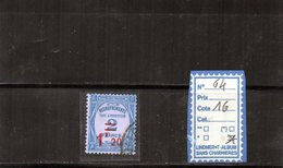 FRANCE TAXE OBLITERE - N°64 - Postage Due