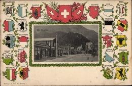 Blason Passepartout Cp Sankt Moritz Kanton Graubünden, Schwyz, Zug, Basel, Bern, Uri, Zürich - GR Grisons