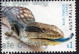 2019 AUSTRALIA Blue-Tongued Lizard VERY FINE POSTALLY USED $1 Sheet Stamp - 2010-... Elizabeth II