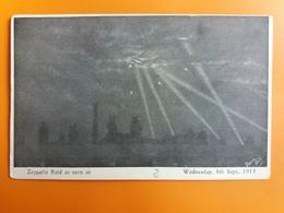 Zeppelin . Raid As Seen At  - Guerre 14/18 - War 1914-18