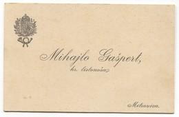 POSTMAN / THE ROYAL BEARER - VINTAGE OLD VISITING CALLING CARD, MITROVICA SERBIA / KINGDOM Of HUNGARY - Cartoncini Da Visita