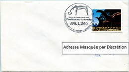 Enveloppe Évènement Des États-Unis (01-04-90) - McKinley Stamp Club - Animaux Préhistoriques (Brontosaure) - FDC