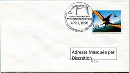 Enveloppe Évènement Des États-Unis (01-04-90) - McKinley Stamp Club - Animaux Préhistoriques (Pteranodon) - FDC