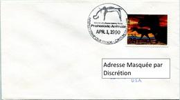 Enveloppe Évènement Des États-Unis (01-04-90) - McKinley Stamp Club - Animaux Préhistoriques (Tyrannosaure) - FDC