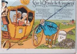 Sur La Route De Louviers (27) Carrosse ,belle Dame,cantonnier,soleil - Belle Illustration Et Chanson - Louviers