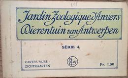 CARNET 8 CPA, Jardin ZOOLOGIQUE D'ANVERS? Série 4, édition Nels - Antwerpen