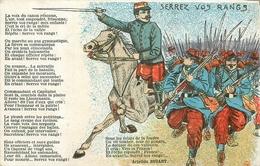 WW Guerre Militaires Poilus Soldats Patriotiques. Serrez Vos Rangs - Guerre 1914-18
