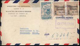 BOLIVIA AIR COVER 1950 TO SWITZERLAND - Bolivie