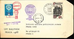 CZECHOSLOVAKIA BALLOON FLIGHT 1958 - Poste Aérienne