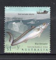 2019 AUSTRALIA BLUE GRENADIER FISH VERY FINE POSTALLY USED $1 Sheet Stamp - Oblitérés
